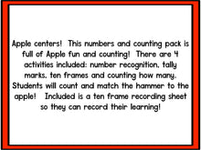 Smashing Apples! Numbers and Counting