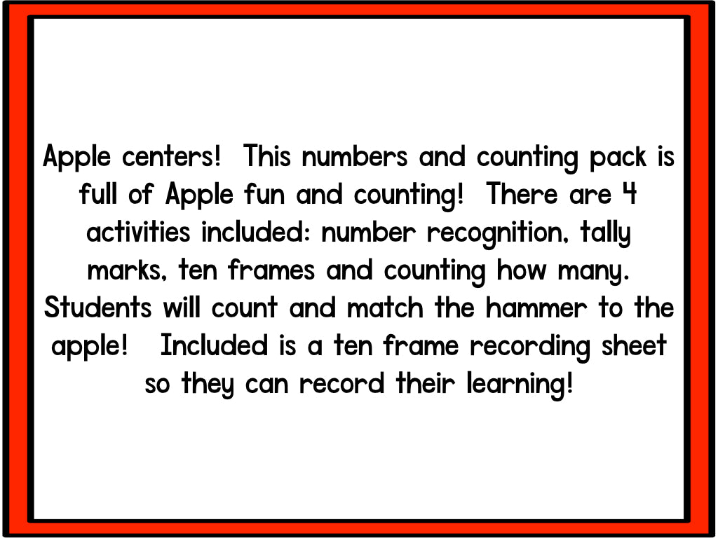 Numbers And Counting: Smashing Apples! – The Kindergarten ...