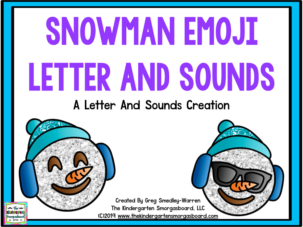 Snowman Emoji Letters and Sounds