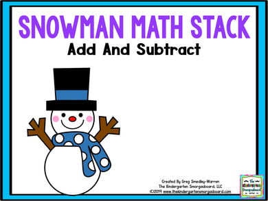 Snowman Math Stack - Add & Subtract