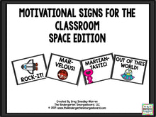 Motivational Signs - Space Theme