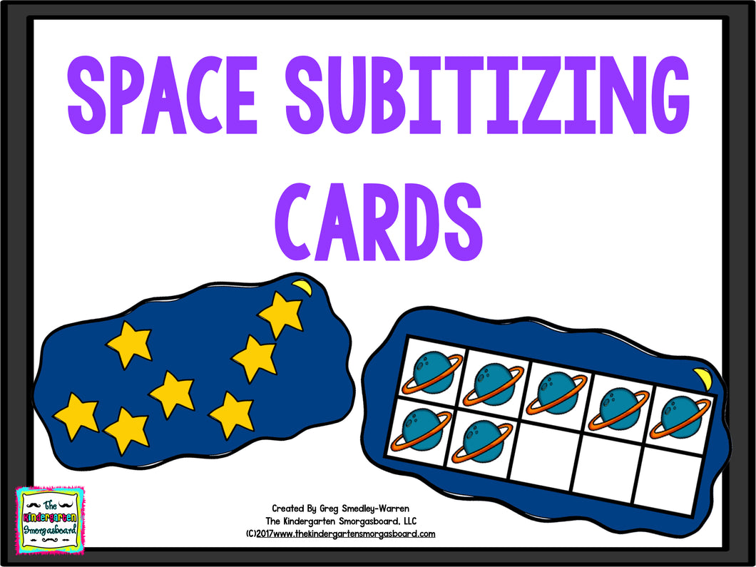 Space Subtizing cards