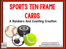 Sports Ten Frame Cards