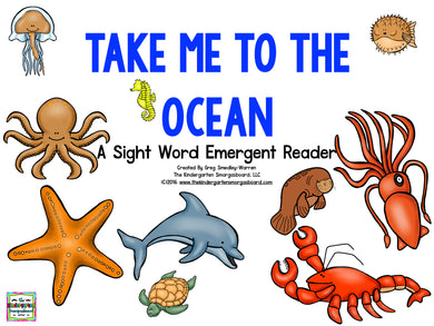 Take Me to the Ocean Emergent Reader