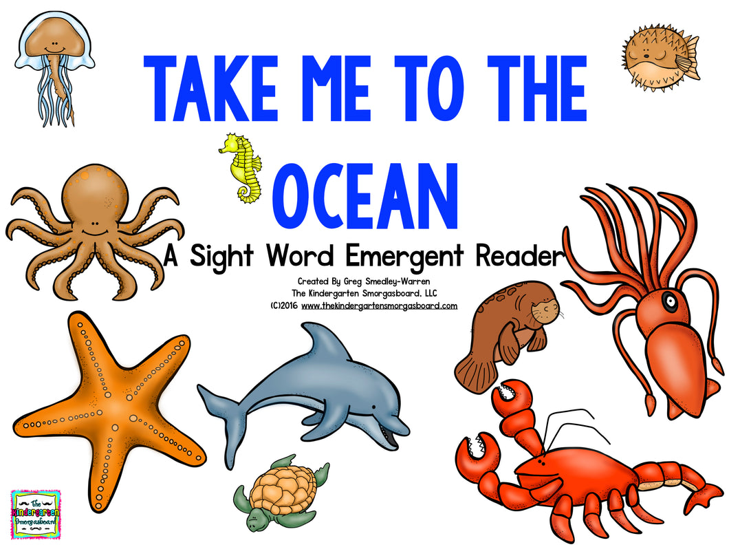 Take Me To The Ocean! Emergent Reader