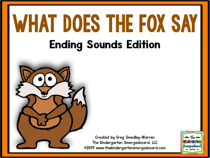 What Does the Fox Say? An Ending Sounds Creation