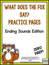 What Does the Fox Say? Zero-Prep Ending Sounds Practice Pages