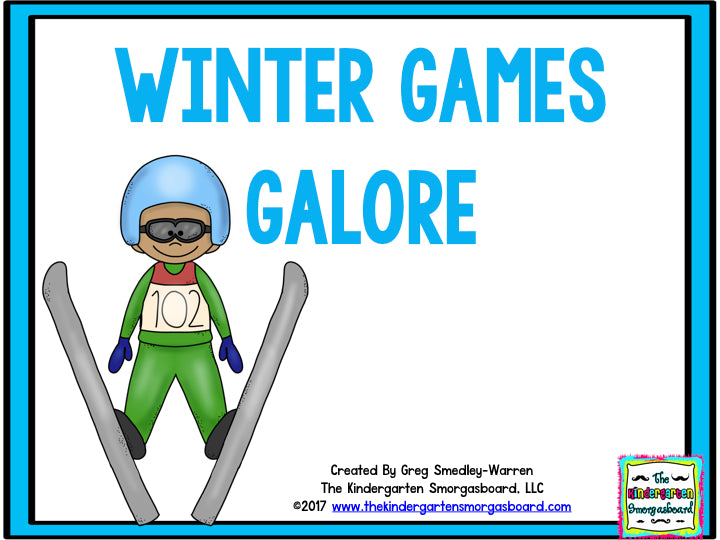 The Winter Games Math And Literacy Centers