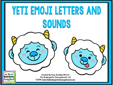 Yeti Emoji Letters and Sounds