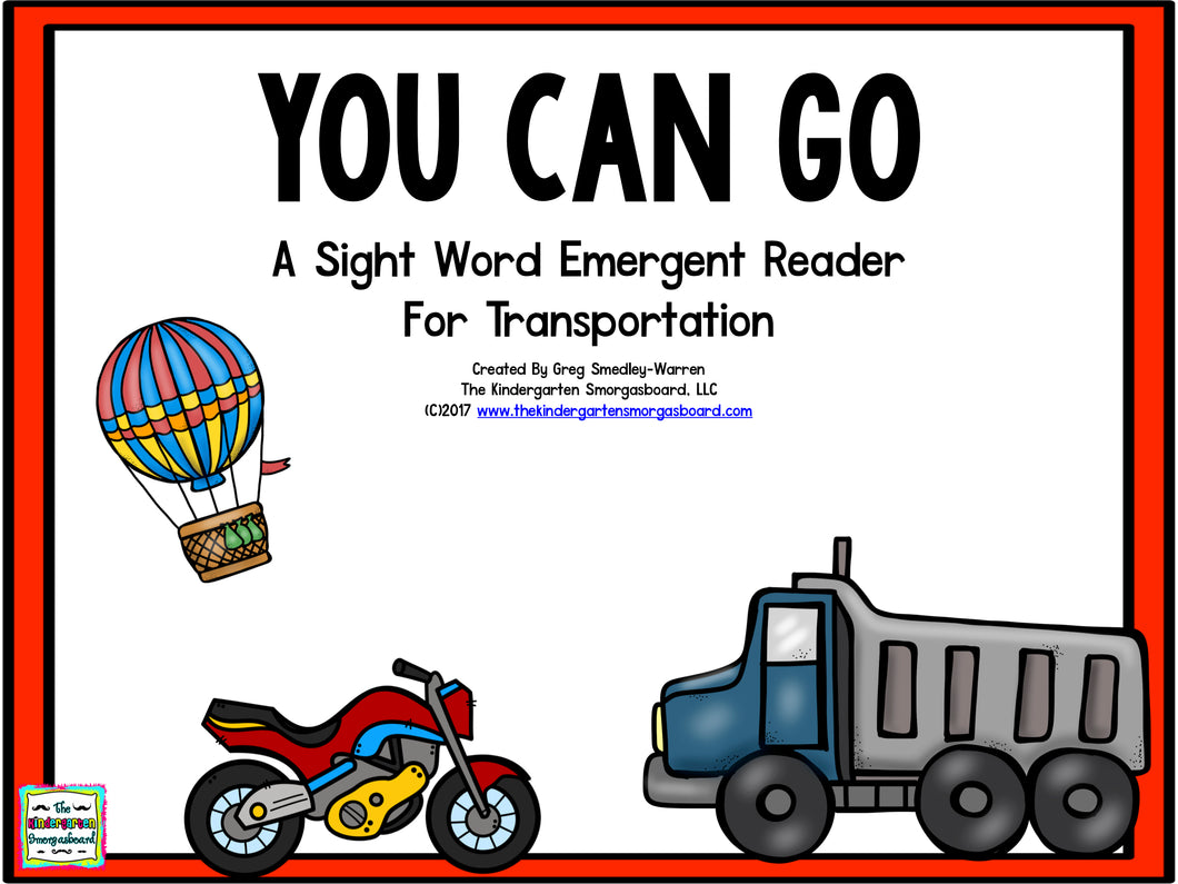 You Can Go! Emergent Reader