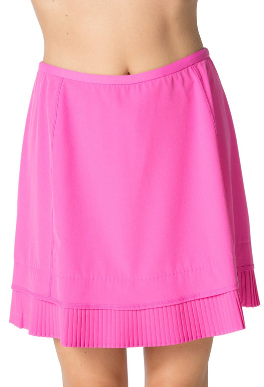 Solid Crystal Pleat Skort 18""