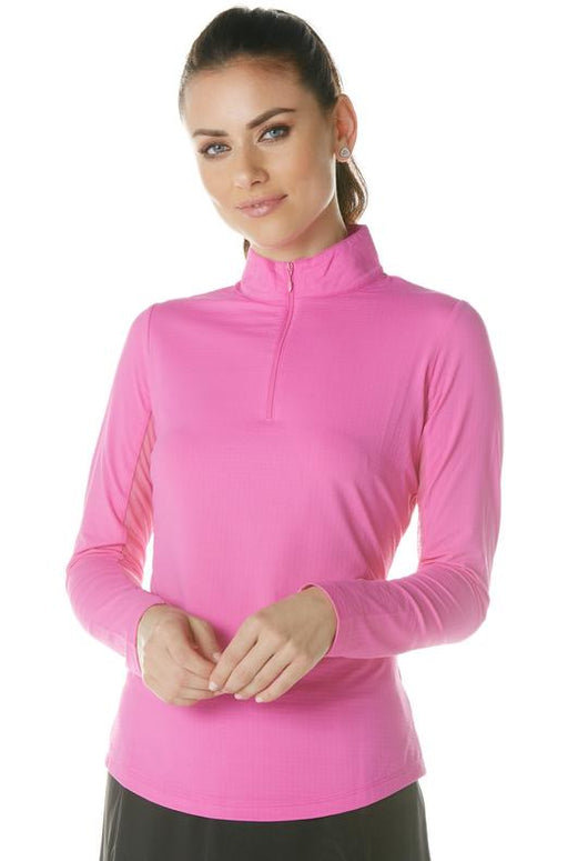 Solid Long Sleeve Mock Neck Top