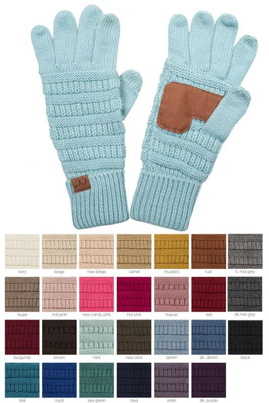 Kids Knit Gloves {Multiple Colors}