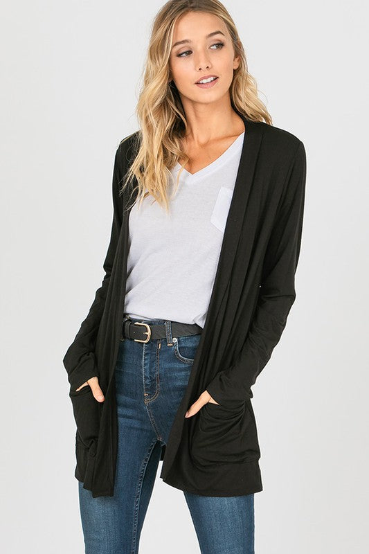 Like Butter Basic Cardigan {Black}