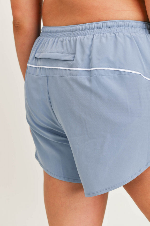 Kylie Athletic Dolphin Shorts {Ocean}