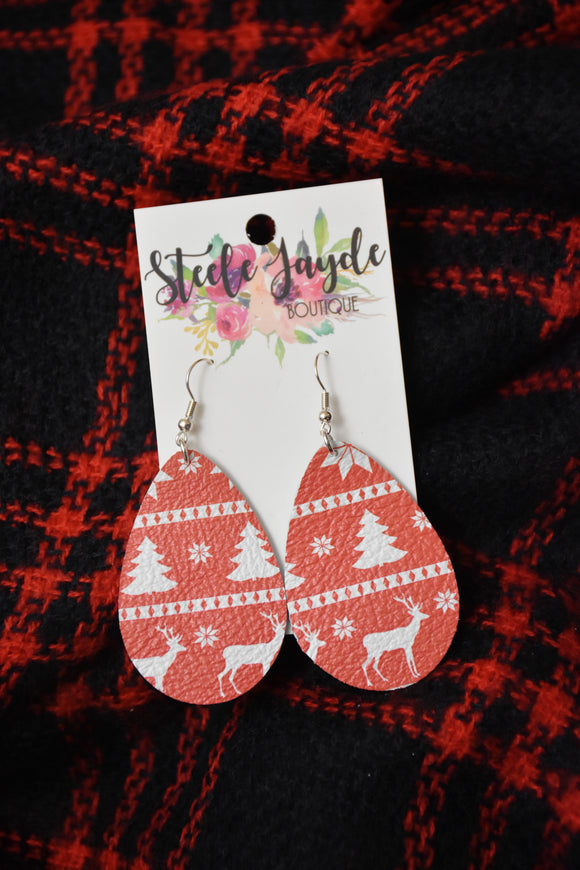 Holiday Teardrop Earrings