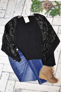 Shimmer And Shine Sequin Tunic {Black}