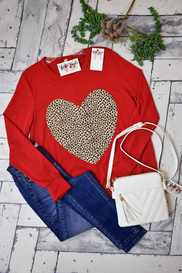 Chasing Hearts Top {Red}