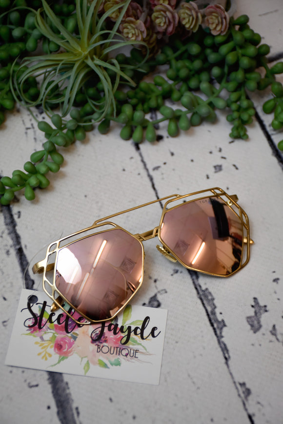 Rowen Sunglasses {Rose Gold}