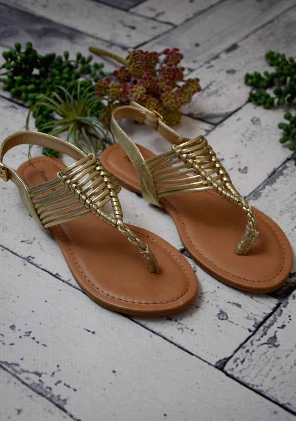 Oasis Sandal {Metallic Gold}