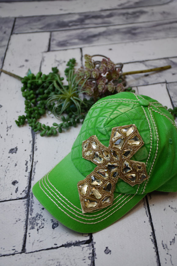 Gemstone Cross Baseball Cap