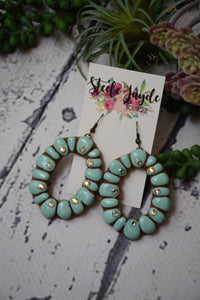 Savannah Turquoise Clay Earrings