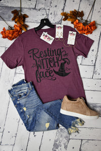Resting Witch Face Tee {Plum}