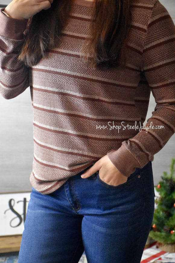 Side Pocket Snappy Cardigan {Eggplant}
