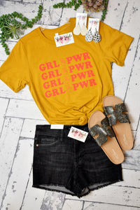 Girl Power Tee {Mustard}