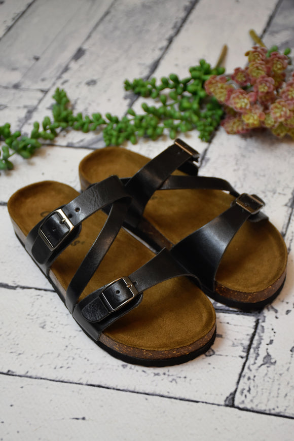 Jovi Strappy Sandal {Black}