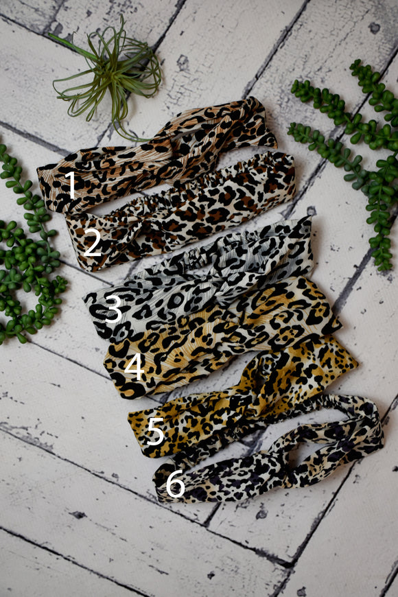 Leopard Turban Style Headwrap {Multiple Colors}