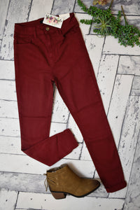 Meet Up Jeggings {Burgundy}