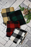 Plaid Fringe Infinity Scarf {Multiple Colors}