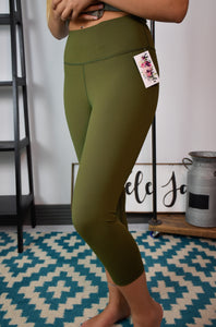 Flex It Capri Leggings {Olive}