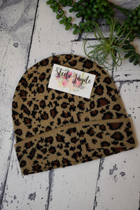 All Over Leopard Beanies