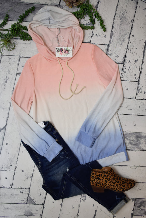 Ombre This Lightweight Hoodie {Blush}
