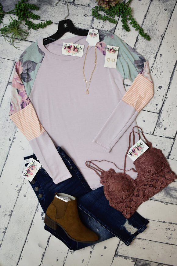 Sweet Nothings Floral Top {Lavender}