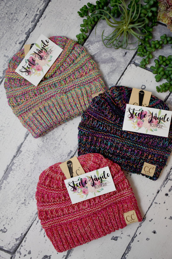 Kids Multi-Tone Beanie {Multiple Colors}