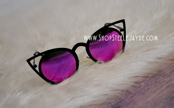 KittyKat Sunglasses {Bright Fuchsia}