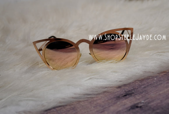 KittyKat Sunglasses {Rose Gold}