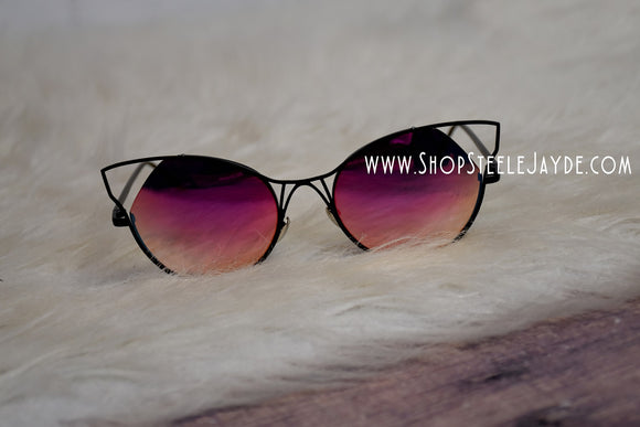 Sinful Cateye Sunglasses {Fuchsia}