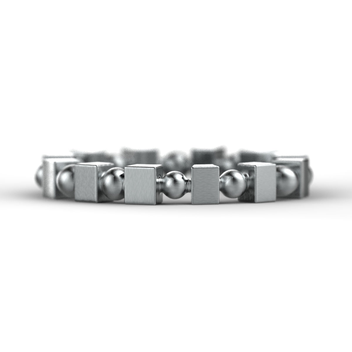 'Bloc' Sterling silver women's narrow stacking ring. - tinybird