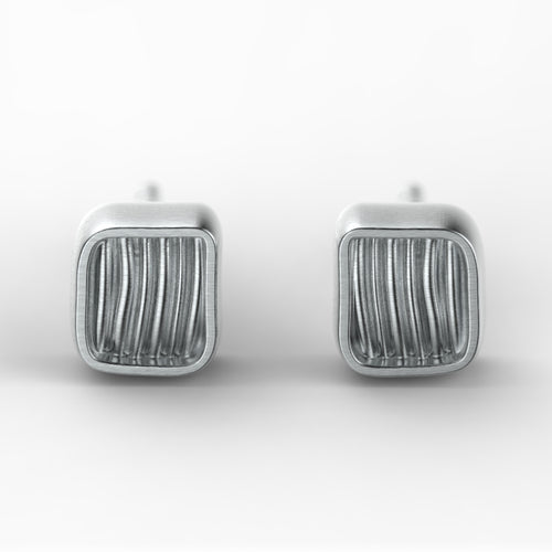 'Eve Mini'  Small sterling silver women's Ear studs. - tinybird