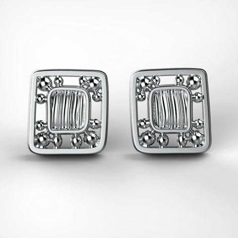 'Eve Mini'  Small sterling silver women's Ear studs.