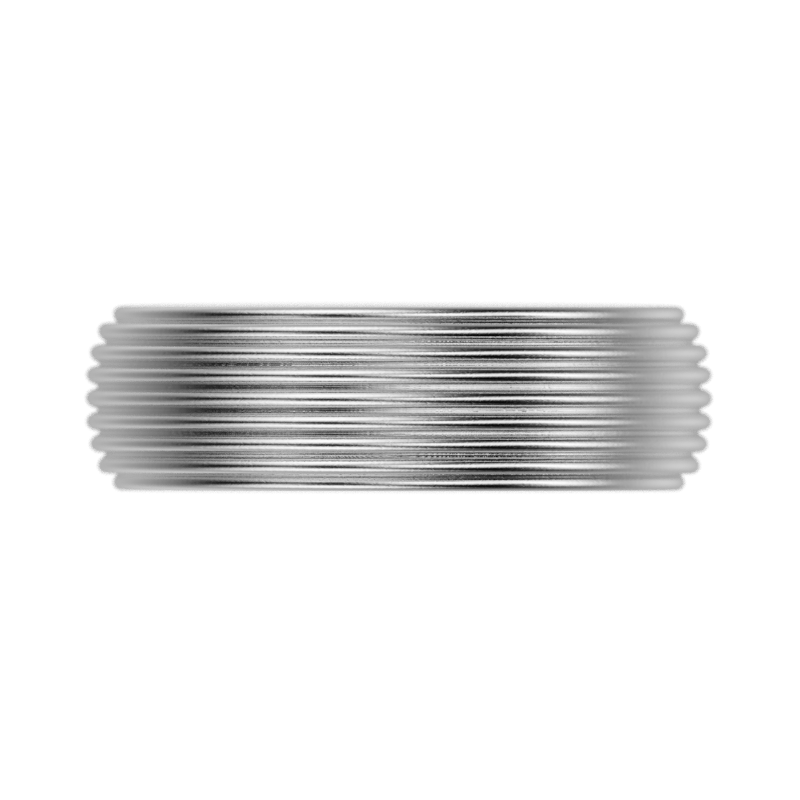 'Adams Rib' Sterling silver women's wide band stacking ring - tinybird