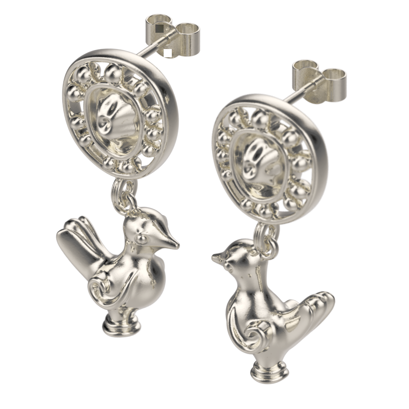 'Love birds' Ear droppers. - tinybird