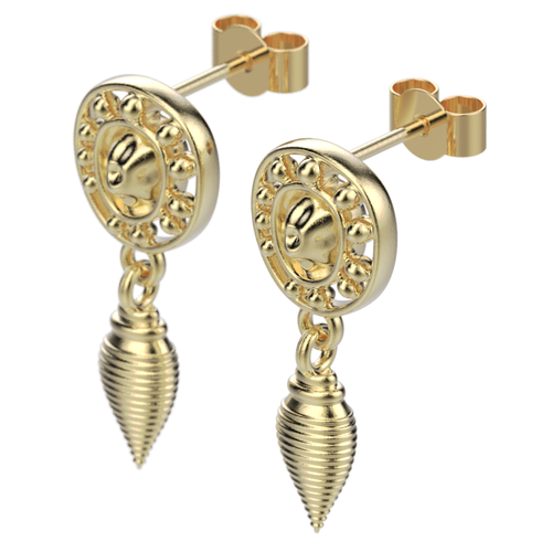 'Anglo' Sterling silver Earring droppers. - tinybird