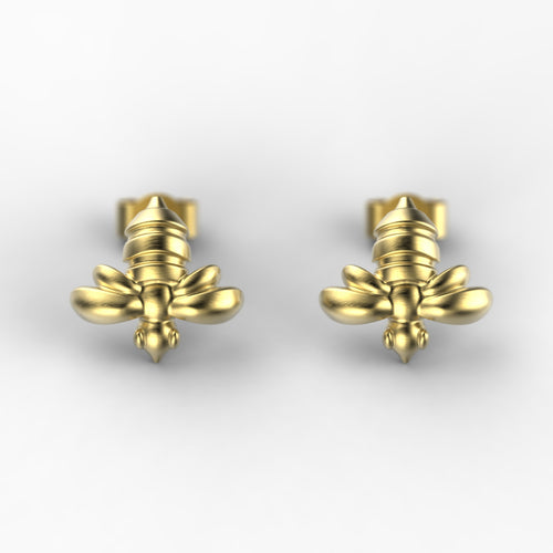 'Honey Bee' Ear studs. - tinybird