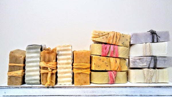 Individually wrapped hand-crafted soaps