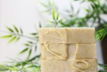 Lemongrass and Lavender goat's milk soap with calendula